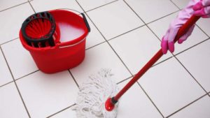 clean ceramic tile floors