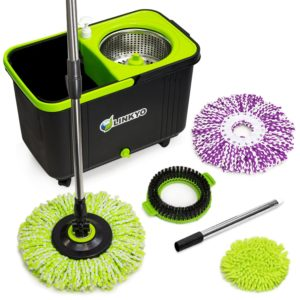 LINKYO Microfiber Spin Mop with Bucket