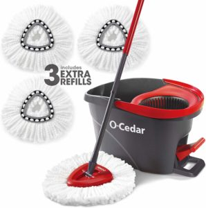 O-Cedar Easy wring Microfiber Spin Mop with 3 pad