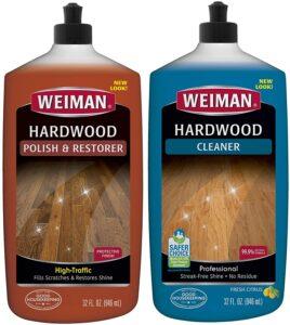 Weiman Hardwood Floor Cleaner & Polish Restorer Combo