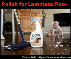 Laminate floor polish